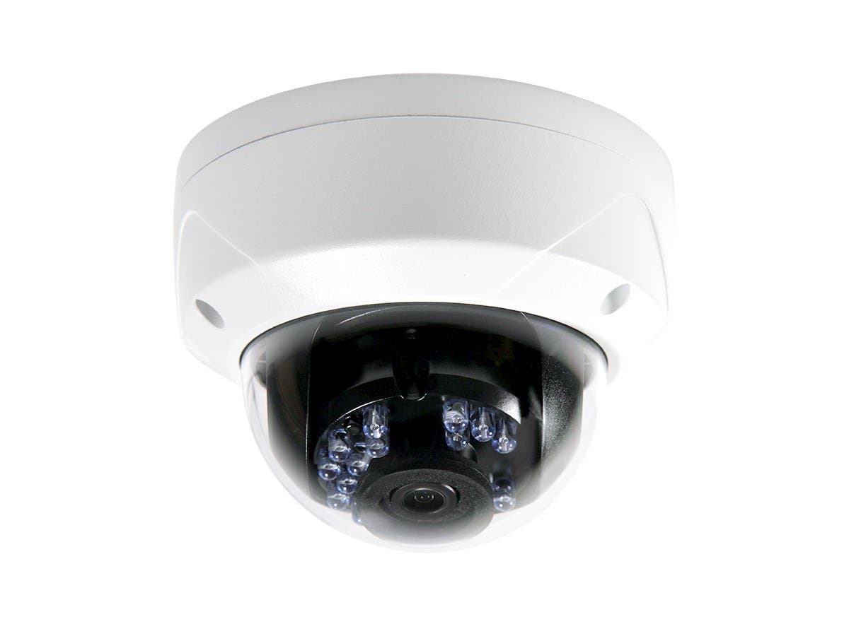 IP66 Rated Vandal Proof 2.8mm Fixed Lens IR TVI Dome Camera (HD 1080P, 24 Smart IR LEDs, up to 65ft, DC12V)