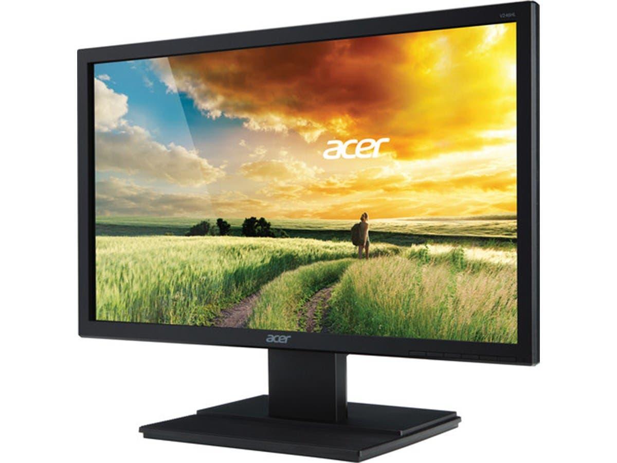 """Acer V246HQL 23.6"""" LED LCD Monitor - 16:9 - 5ms 1920 x 1080 - 16.7 Million Colors - 300 Nit - 100,000,000:1 - Full HD - DVI - HDMI - VGA - Black-Large-Image-1"""