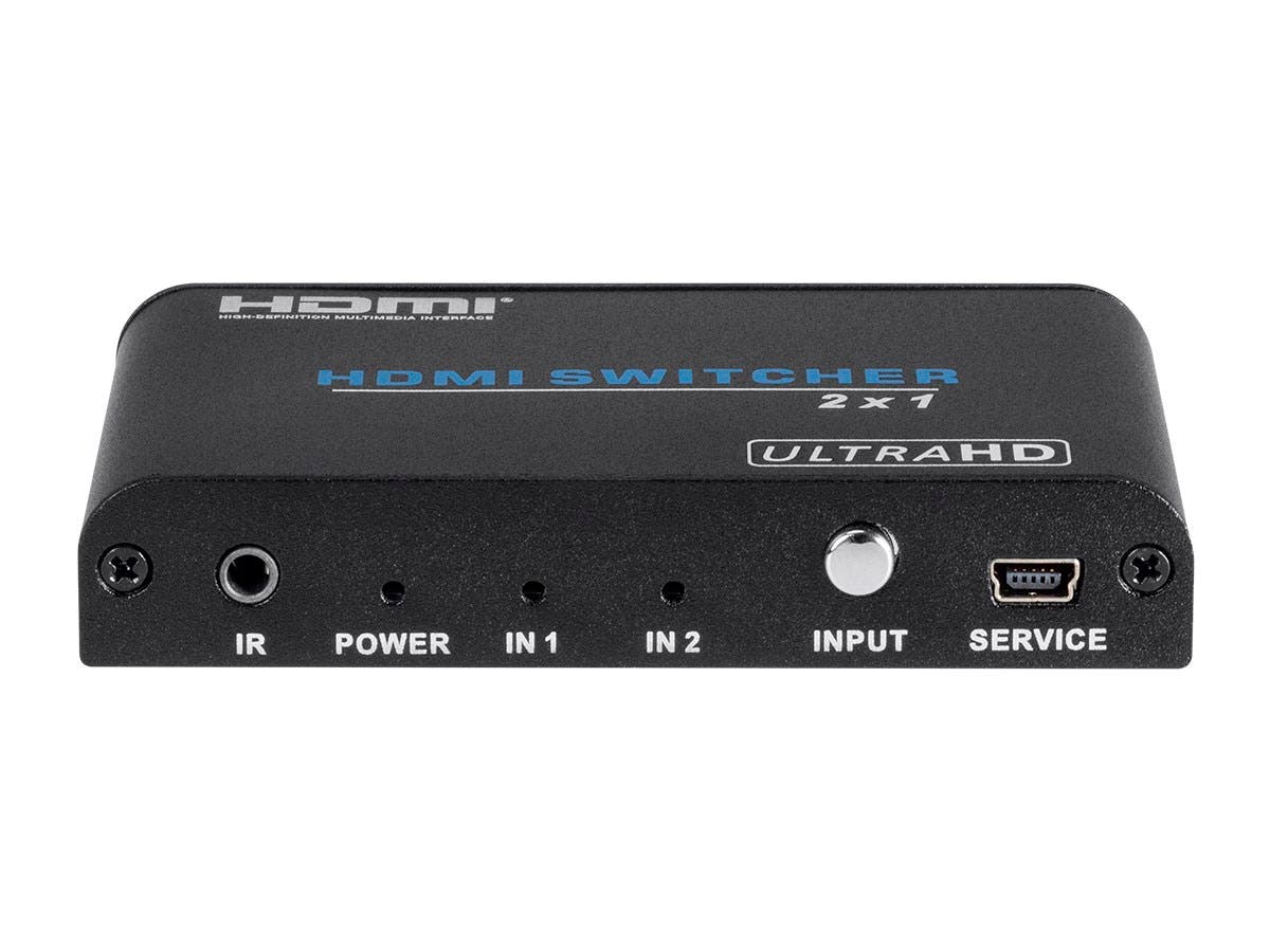 Monoprice Blackbird 4K 2x1 HDMI 2 0 Switch, HDR, HDCP 2 2