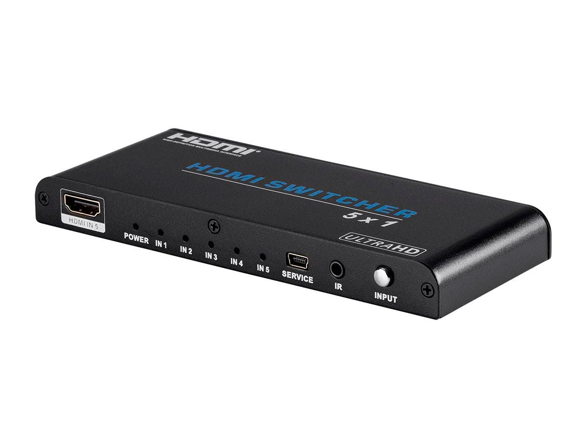 Monoprice Blackbird 4K 5x1 HDMI 2.0 Switch, HDR, HDCP 2.2, 4K