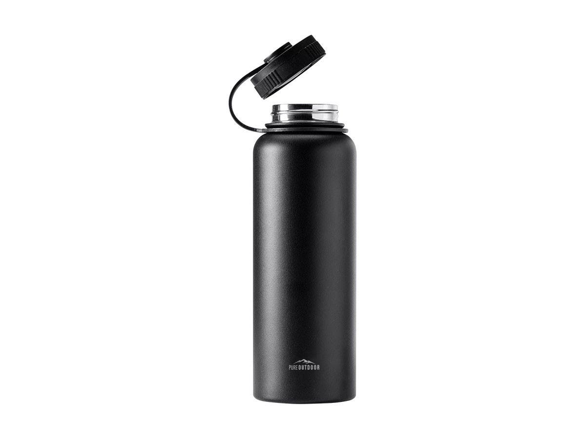 852c1935bf Pure Outdoor by Monoprice Vacuum Sealed 40 fl. oz. Wide-Mouth Water Bottle