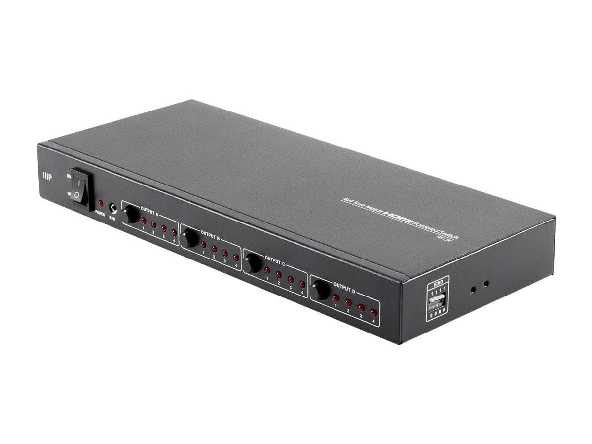 Monoprice Blackbird 4K Pro 4X4 True Matrix HDMI Powered Switch with EDID and RS232 Control-Large-Image-1