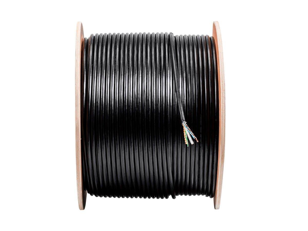 Monoprice Cat6 Ethernet Bulk Cable Stranded 550mhz Utp Pure Cat5e Rj45 Shielded 26 Awg Pvc Jacket Gray 150 Ft Bare Copper Wire