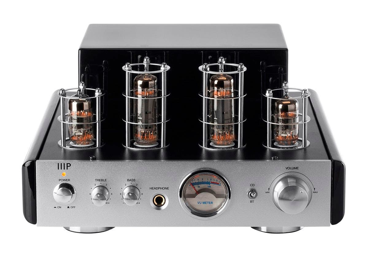 Monoprice 25 Watt Stereo Hybrid Tube Amplifier with Bluetooth (Refurbished)-Large-Image-1