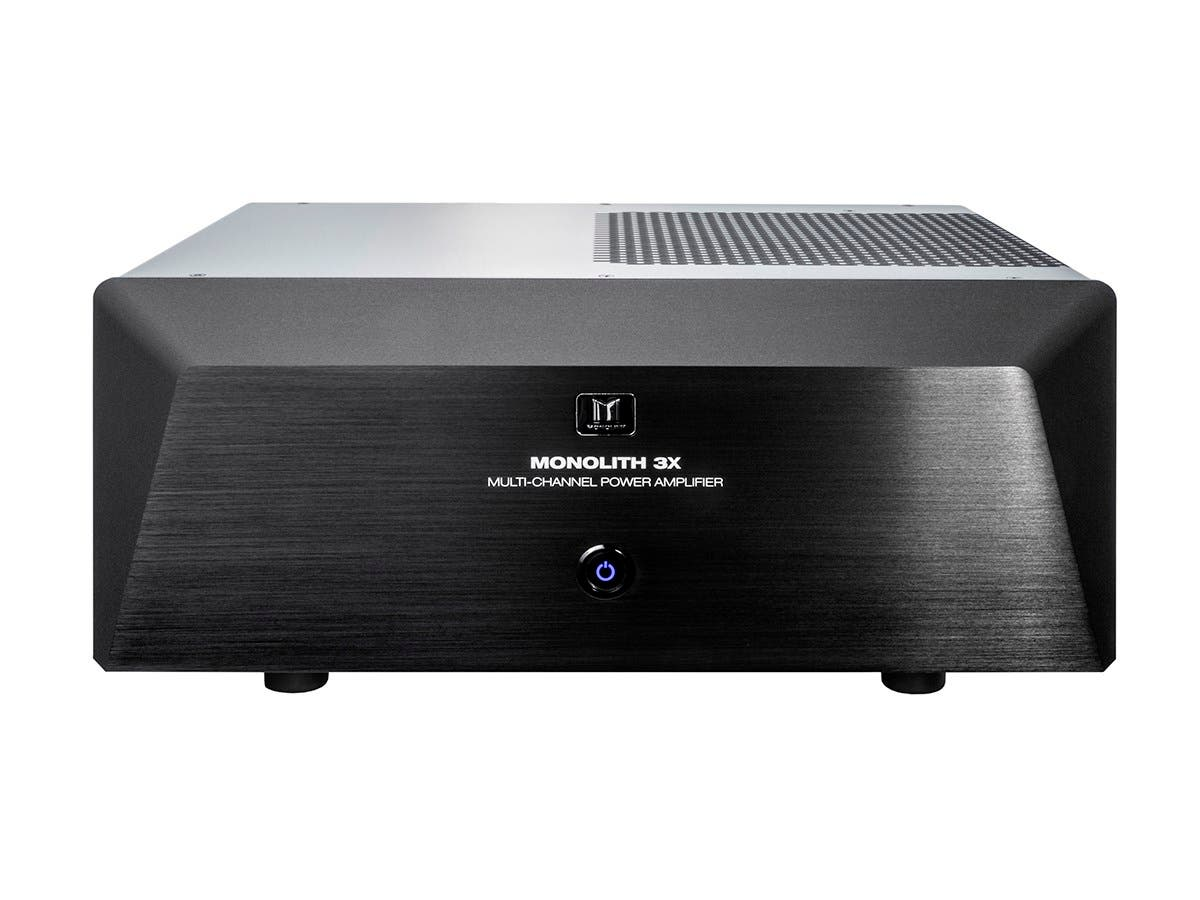 Monolith by Monoprice 3x200 Watts Per Channel Multi-Channel Home Theater  Power Amplifier with XLR