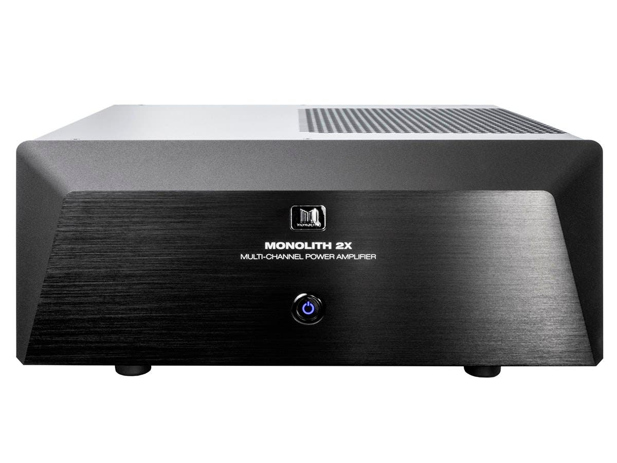 Monolith by Monoprice 2x200 Watts Per Channel Two Channel Home Theater Stereo Power Amplifier with XLR Inputs-Large-Image-1