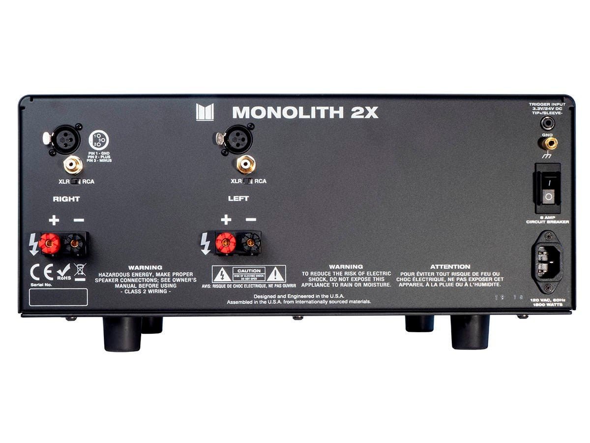 monolith by monoprice 2x200 watts per channel two channel home theater stereo power amplifier. Black Bedroom Furniture Sets. Home Design Ideas
