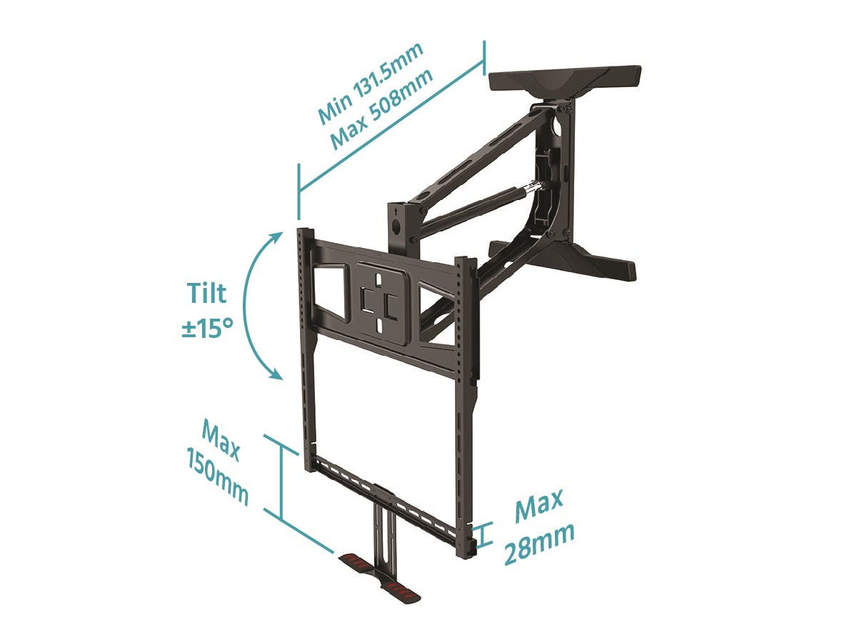 Above Fireplace Pull-Down Full-Motion TV Wall Mount - Monoprice.com