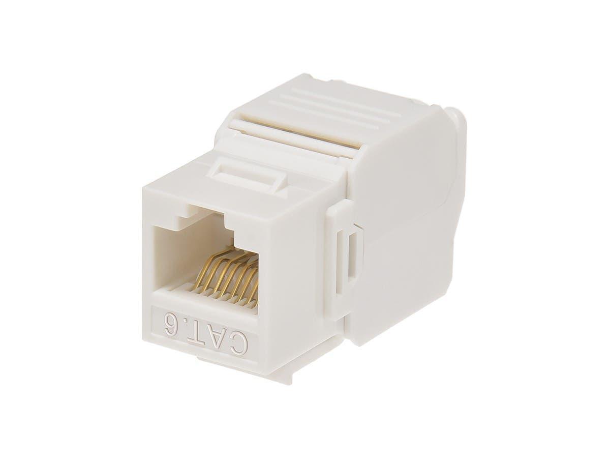 Cat5e RJ45 ToolLess Kestone Cat5-e Ethernet Tool-Less White Jack /& Wall Plate