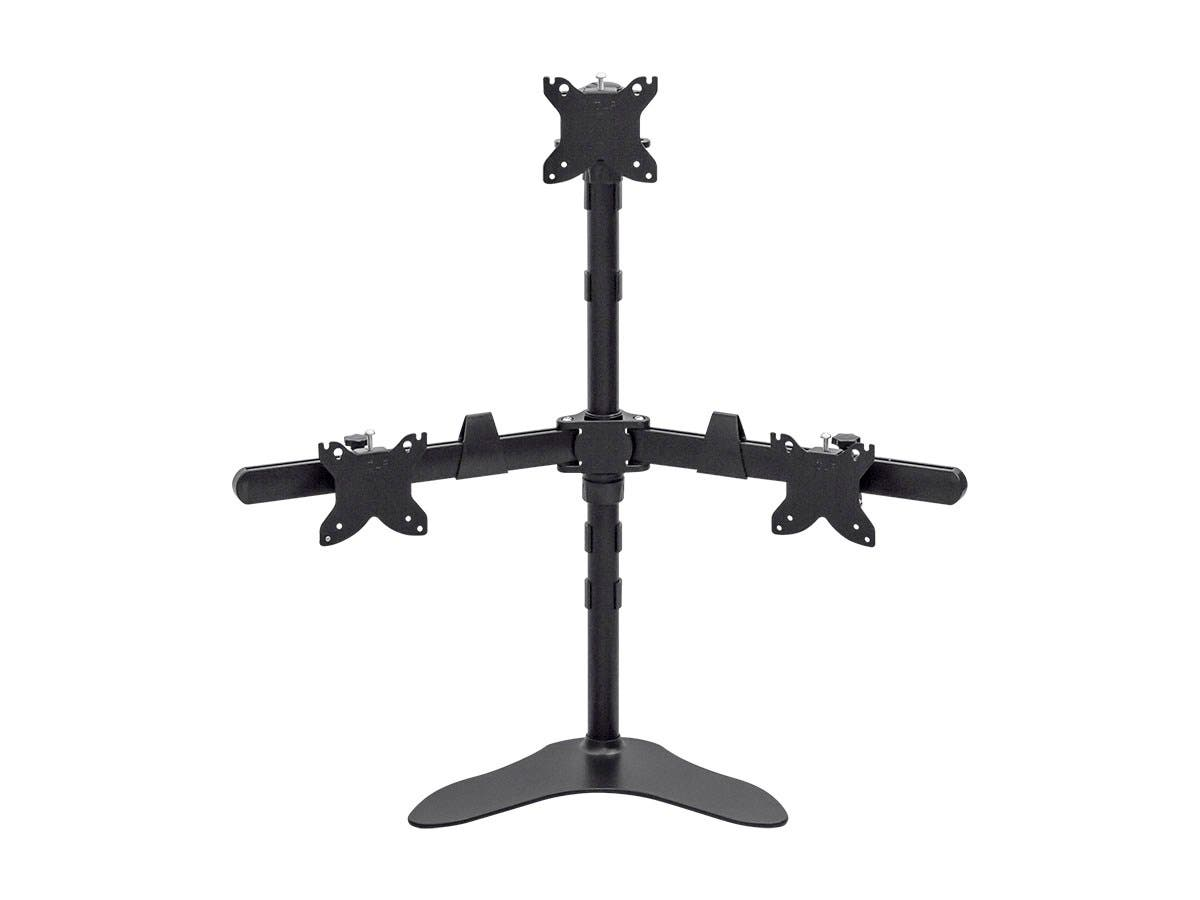 Monoprice Triple Monitor Pyramid Free Standing Desk Mount for 15~30in Monitors-Large-Image-1