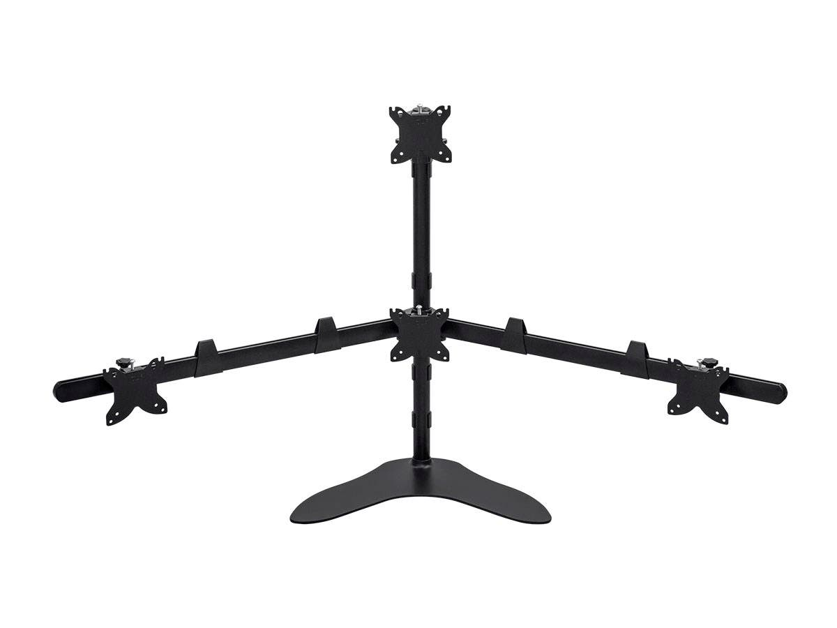 Quad Monitor Pyramid Free Standing Desk Mount for 15~30in Monitors
