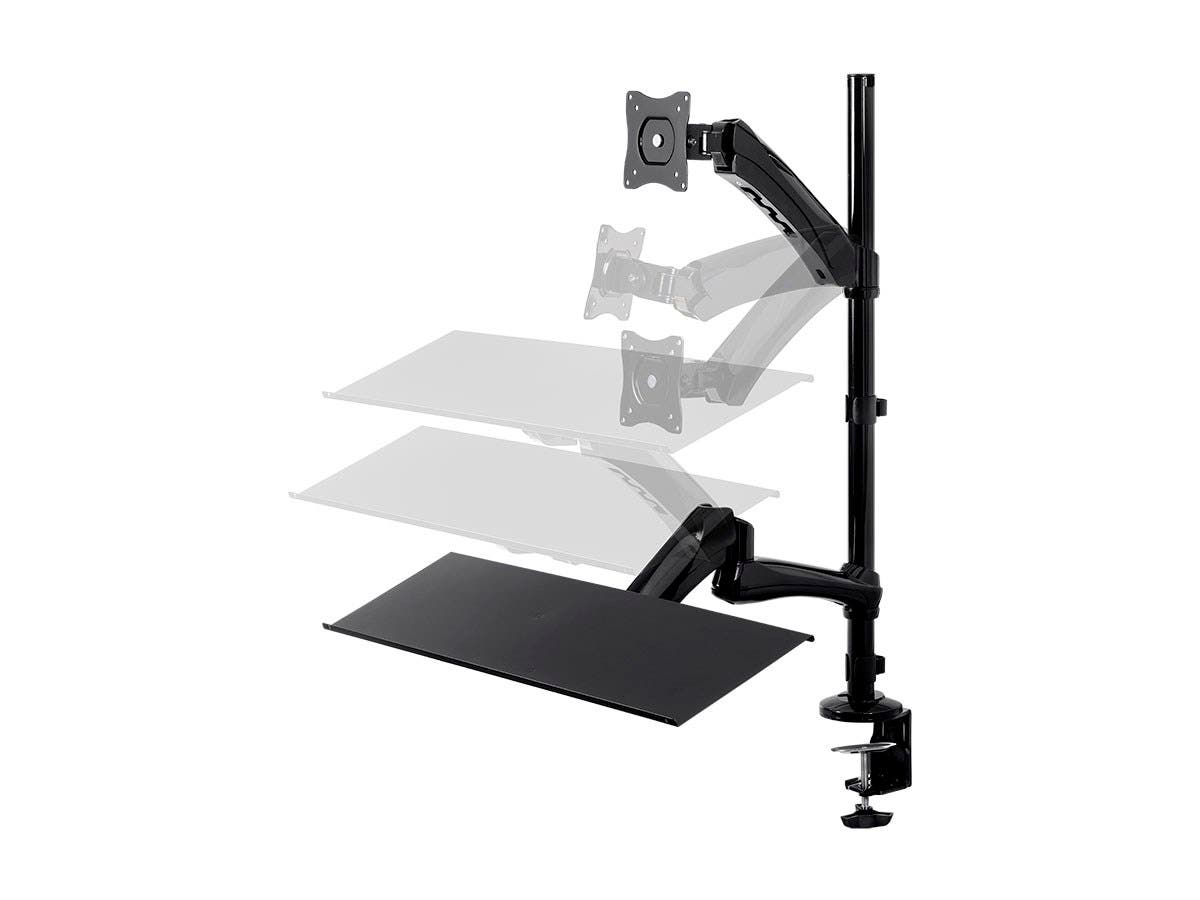 Monoprice Sit-Stand Articulating Monitor and Keyboard Workstation-Large-Image-1