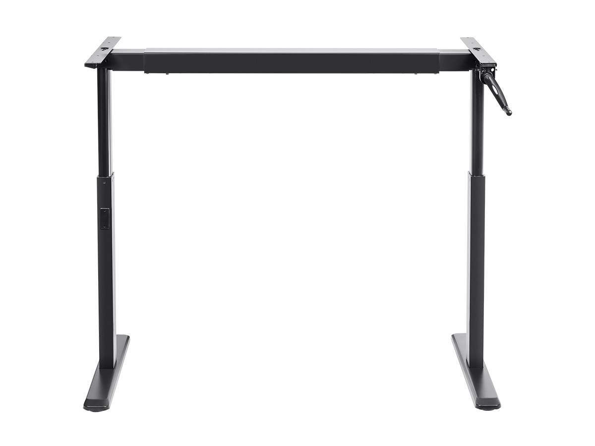 Sit-Stand Height Adjustable Table Desk Frame Workstation, Manual Crank