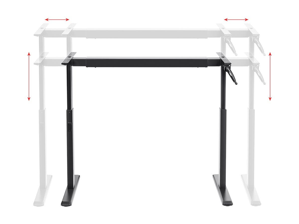 SitStand Height Adjustable Desk Frame Workstation Manual Crank