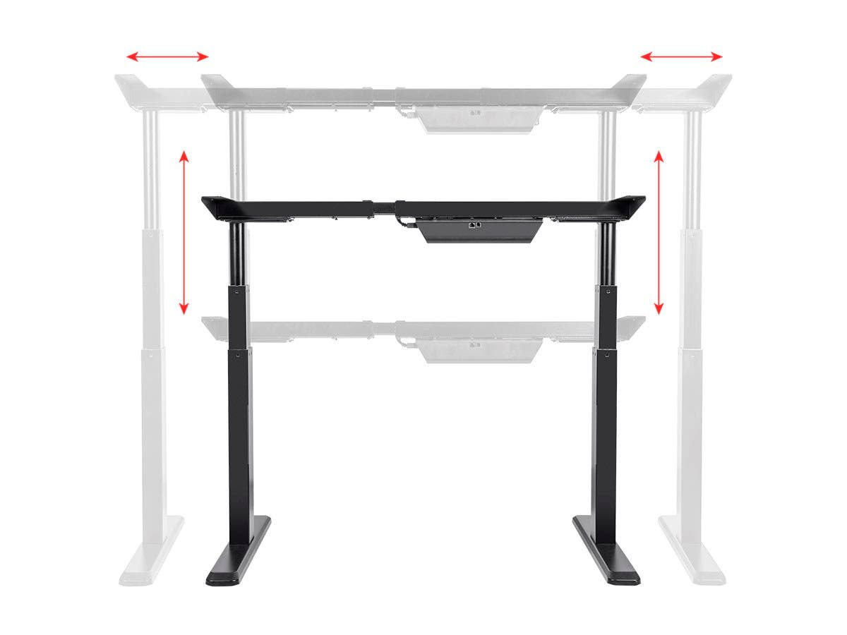 Incroyable Workstream By Monoprice Sit Stand Dual Motor Height Adjustable Table Desk  Frame, Electric