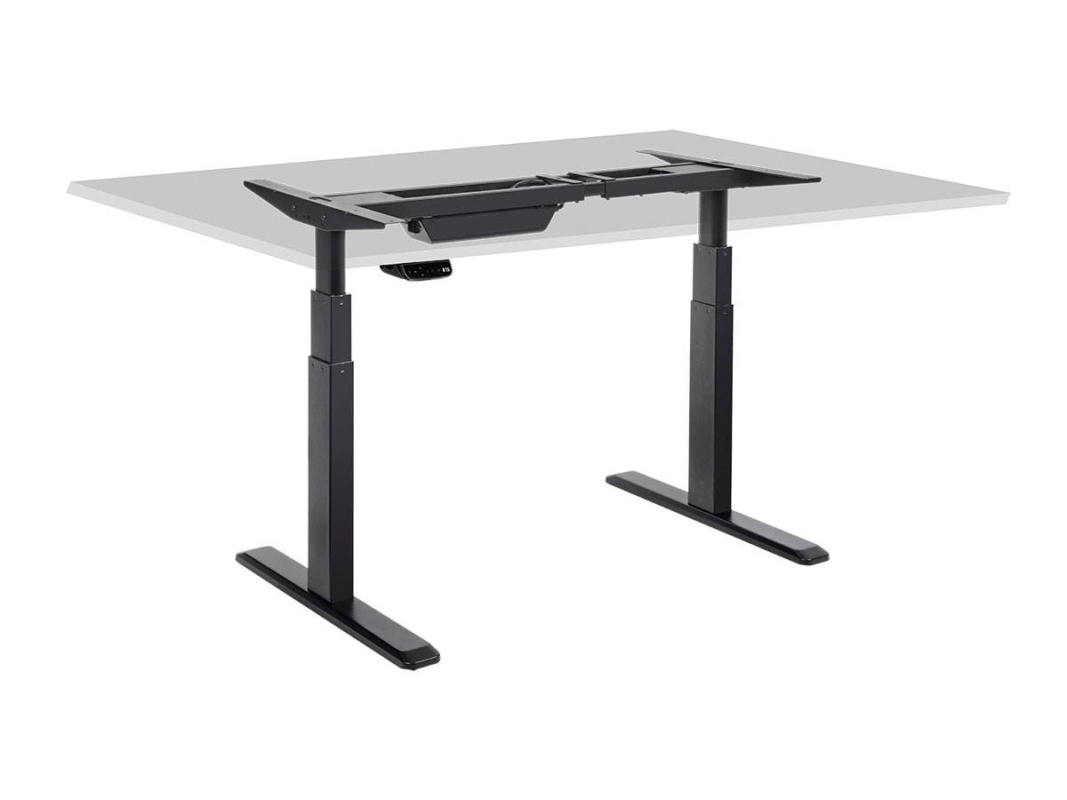 Sit Stand Dual Motor Height Adjule Table Desk Frame Electric Black Monoprice
