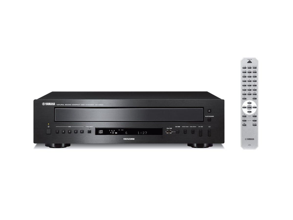 Yamaha CD-C600BL 5-Disc CD Changer with MP3 and WMA Playback-Large-Image-1