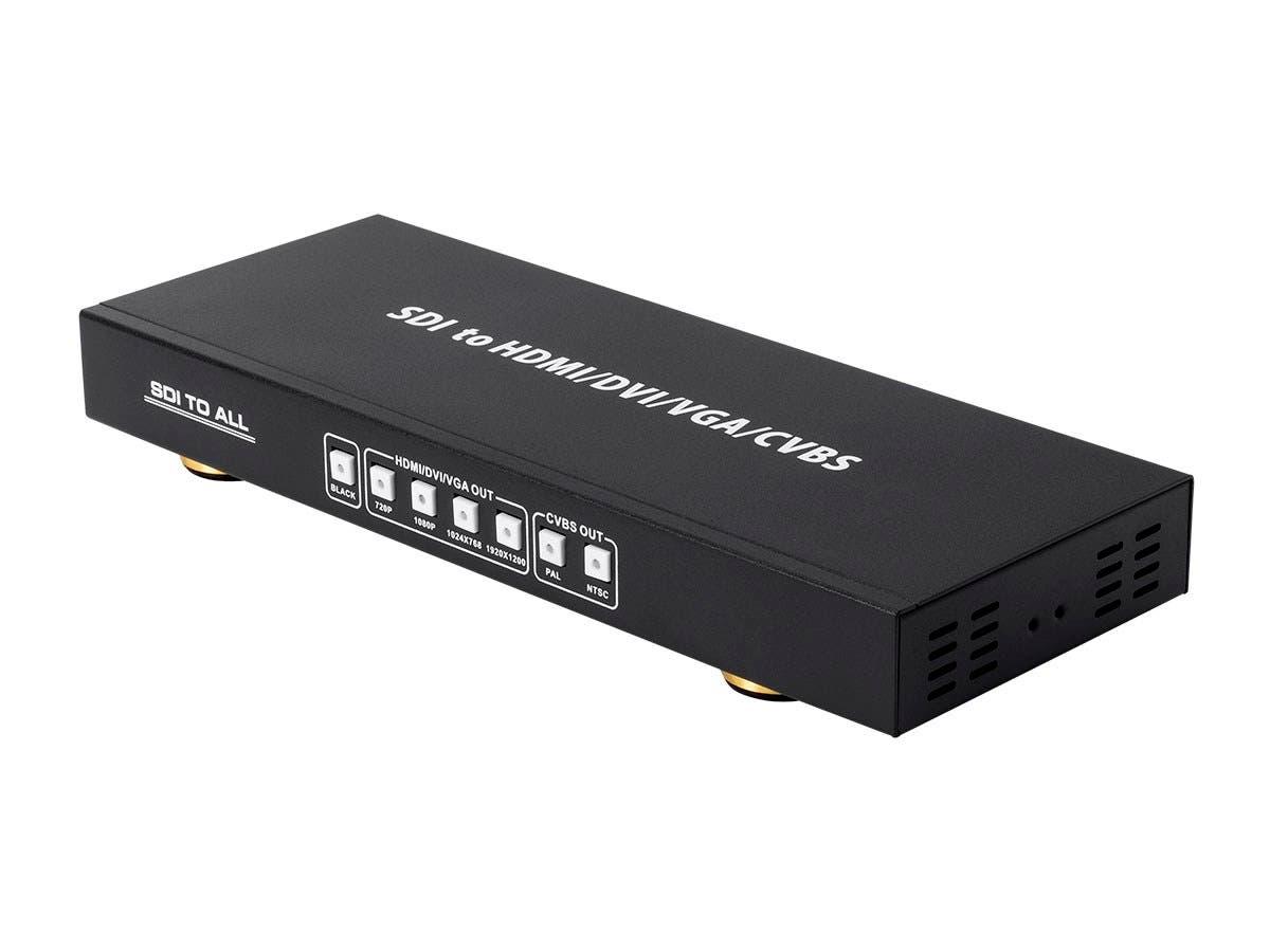 Monoprice SDI to Multiformat Converter with Scaler, (SDI to CVBS, HDMI, VGA, and DVI)-Large-Image-1