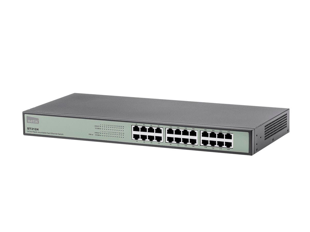 24-Port 10/100 Mbps Fast Ethernet Switch, Rackmountable