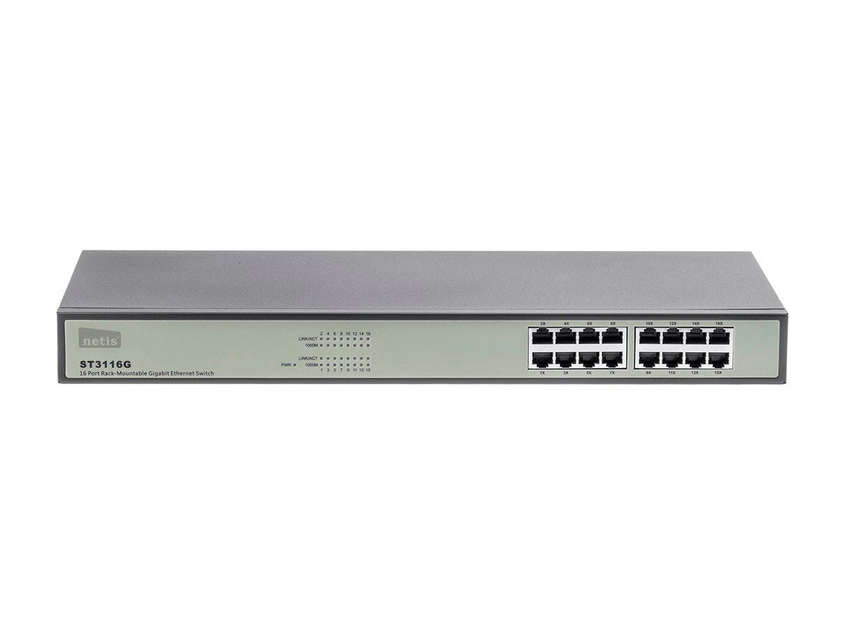 Monoprice 16-Port Unmanaged 10/100/1000 Mbps Gigabit Ethernet Switch ...