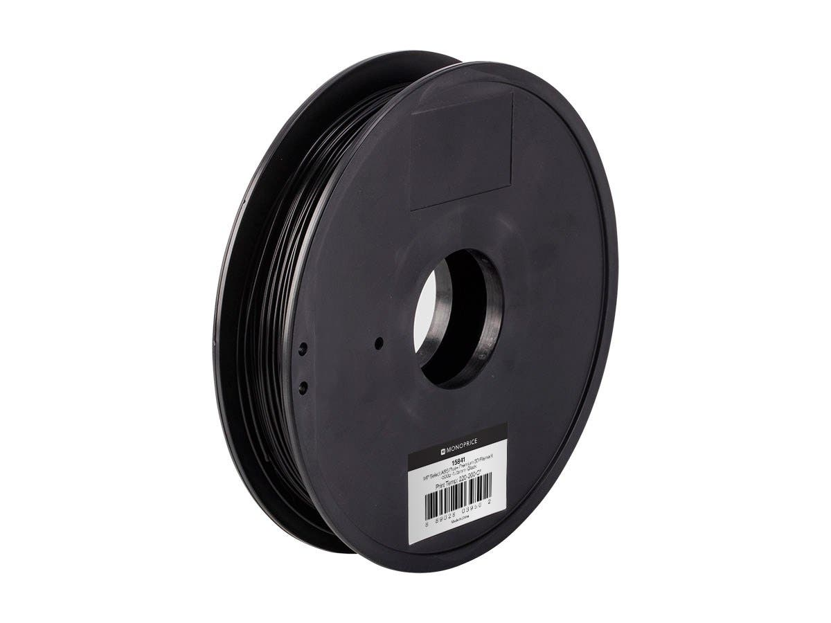 MP Select ABS Plus+ Premium 3D Filament, 0.5kg 1.75mm, Black