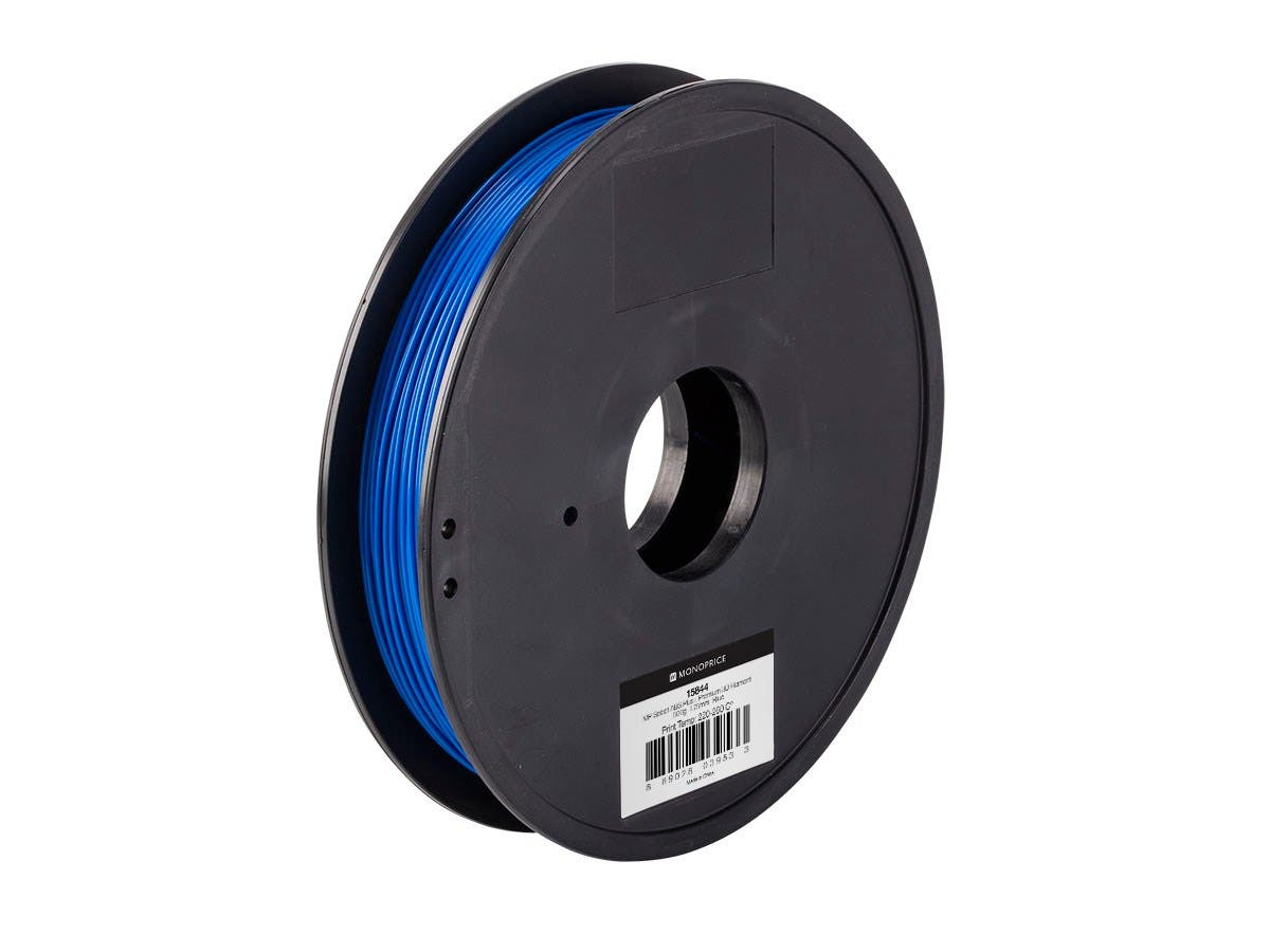 MP Select ABS Plus+ Premium 3D Filament, 0.5kg 1.75mm, Blue-Large-Image-1