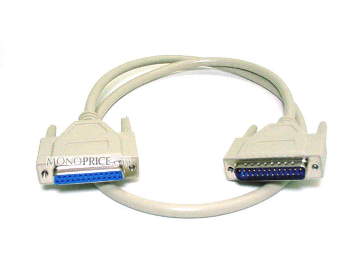 3ft DB25 M/F Molded Cable