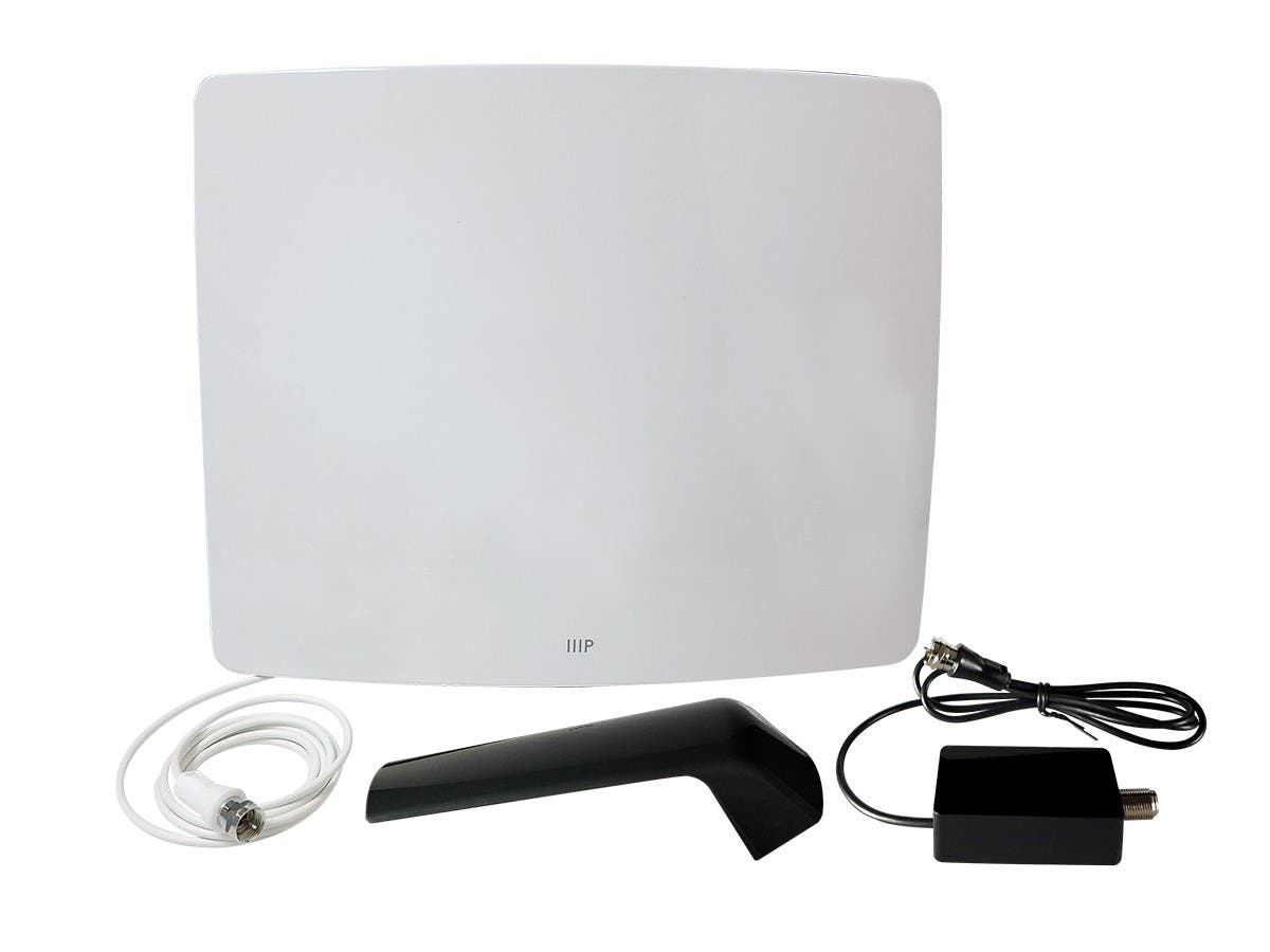 Monoprice Active Curved Hd5 Hdtv Antenna 60 Mile Range Channel Remote View Mobile Dvr With Shock Sensor And Wifi Large Image 1