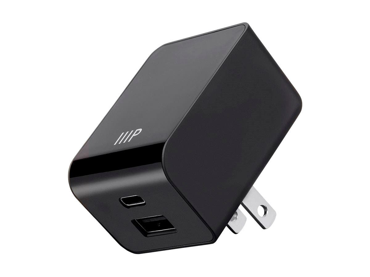 Luxe Series Dual USB Wall Charger, USB-A 2A & USB Type-C 3A