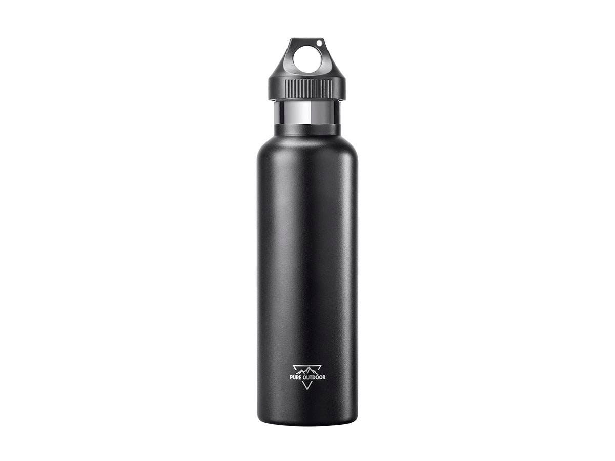 Pure Outdoor Vacuum Sealed 21 fl. oz. Narrow-Mouth Water Bottle