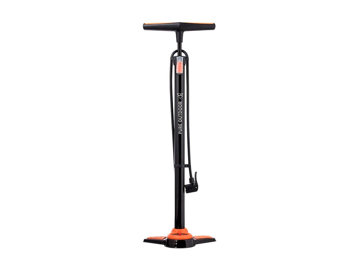 Bicycle Floor Pump with Pressure Gauge, 160 psi