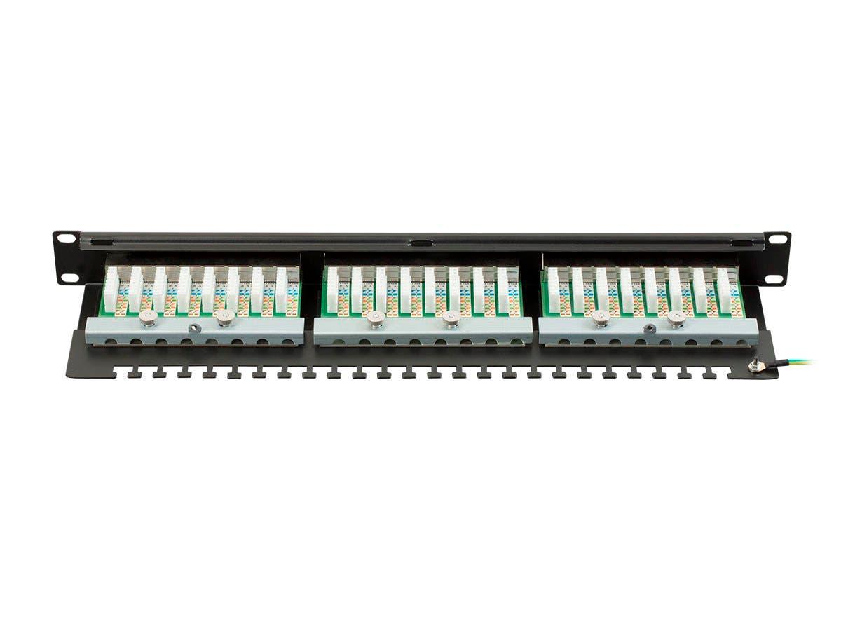 Monoprice Entegrade Series Cat6 Ftp 19 Inch 1u Patch Panel Dual Wiring Diagram Krone Idc 24