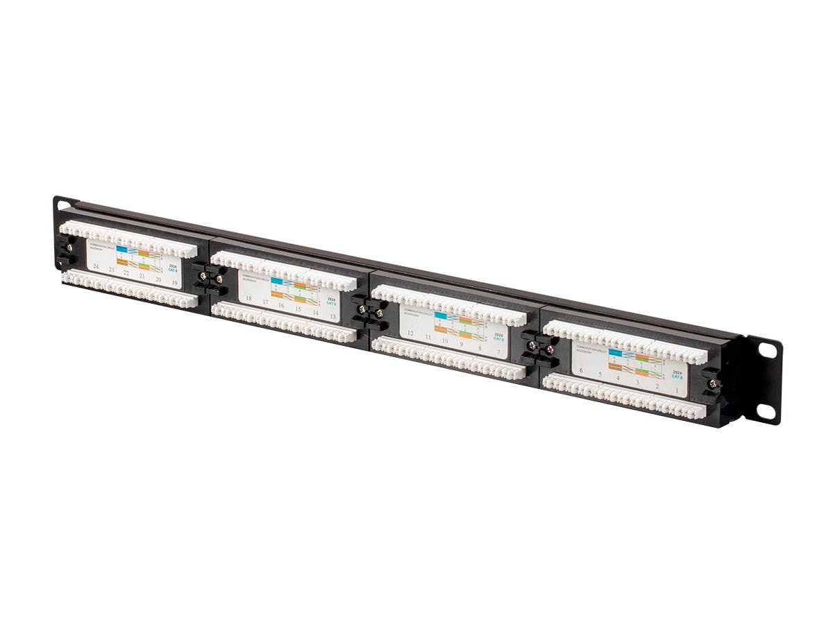 monopricecat6 utp 19-inch 1u patch panel  24-port