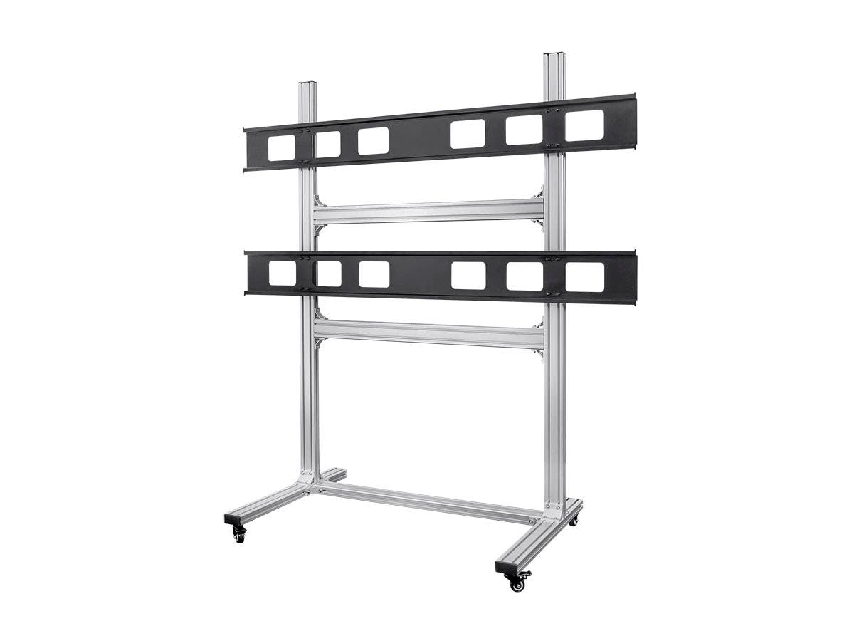 Monoprice 2x2 Video Wall System Bracket with Micro Adjustment Arms - For TVs 32in to 55in, Max Weight 100lbs, VESA Patterns Up to 600x400-Large-Image-1