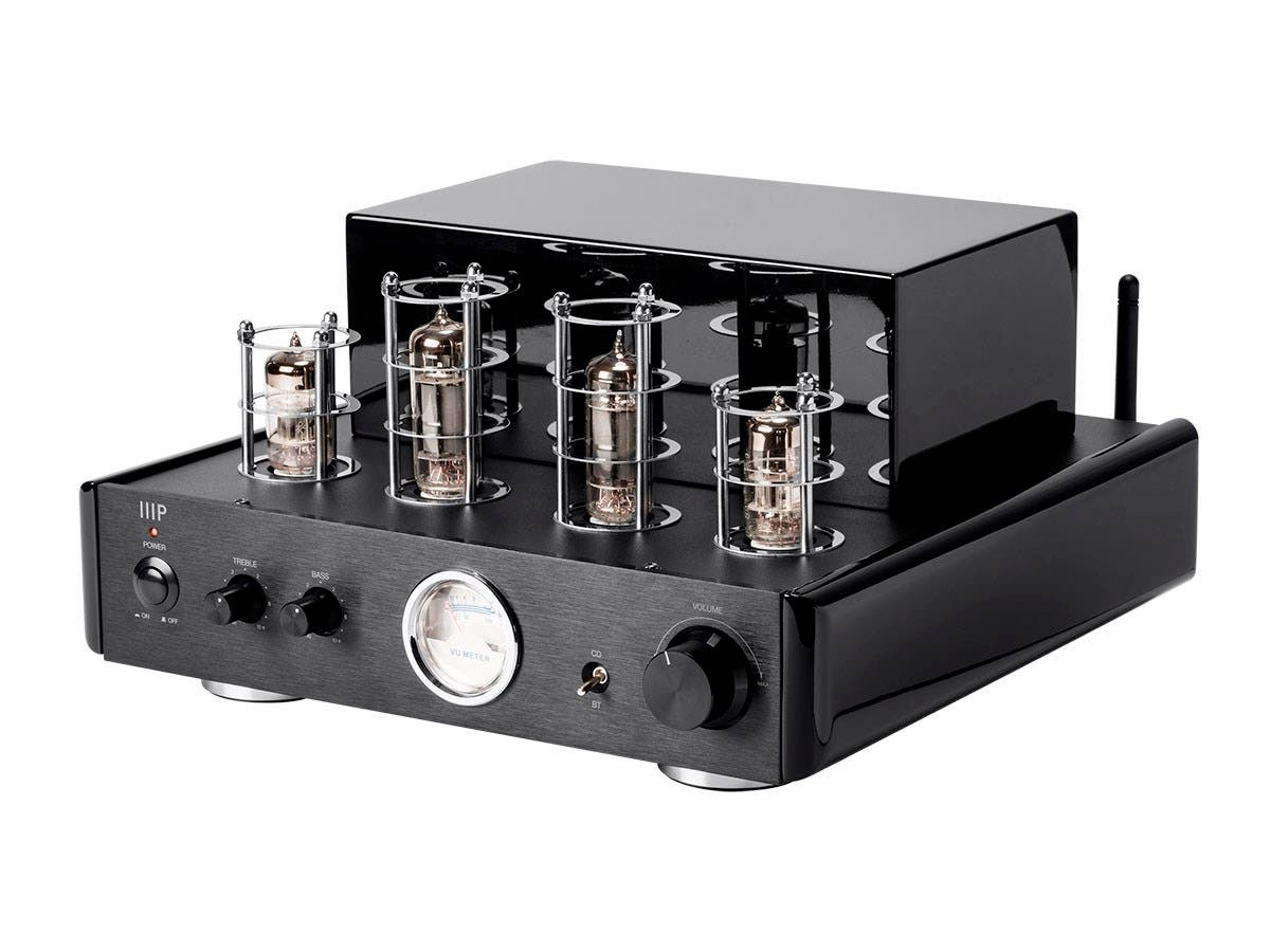 50 Watt Stereo Hybrid Tube Amplifier with Bluetooth & Line Output-Large-Image-1