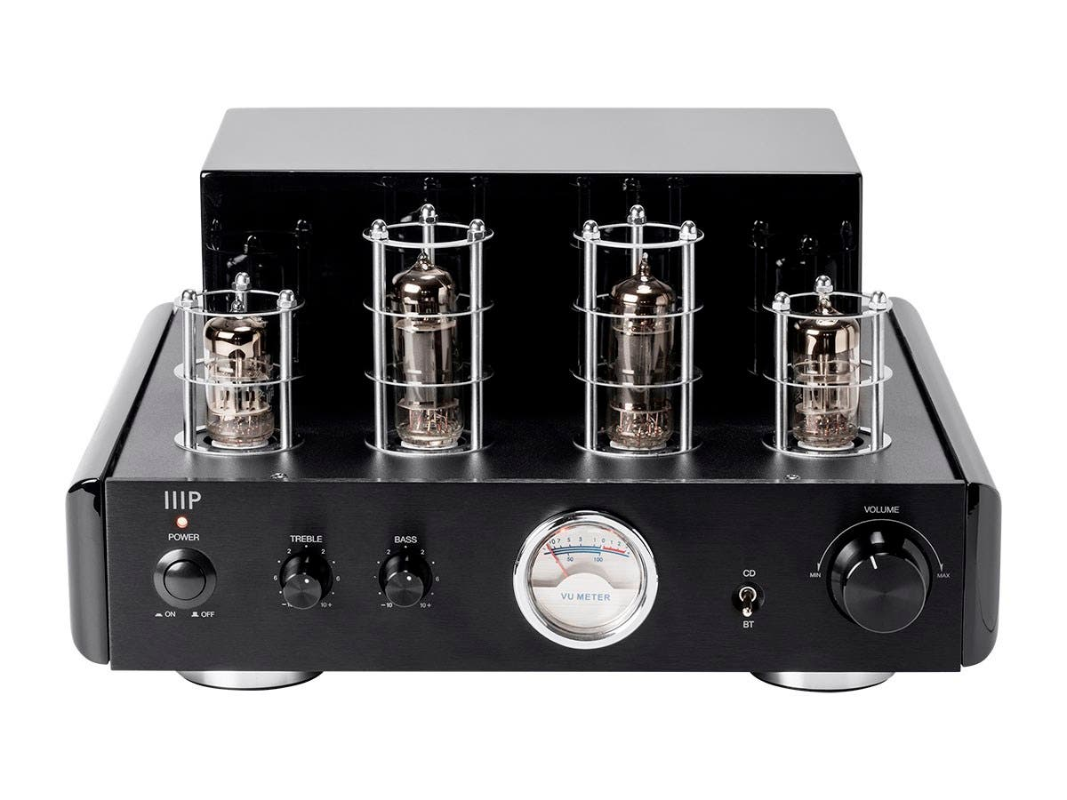 Monoprice 50 Watt Stereo Hybrid Tube Amplifier With Bluetooth Line Radiolabs Wireless 1watt And Poe Injector Output Small Image