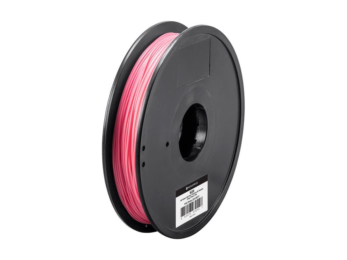 Monoprice MP Select ABS Plus+ Premium 3D Filament, 0.5kg 1.75mm, Pink-Large-Image-1