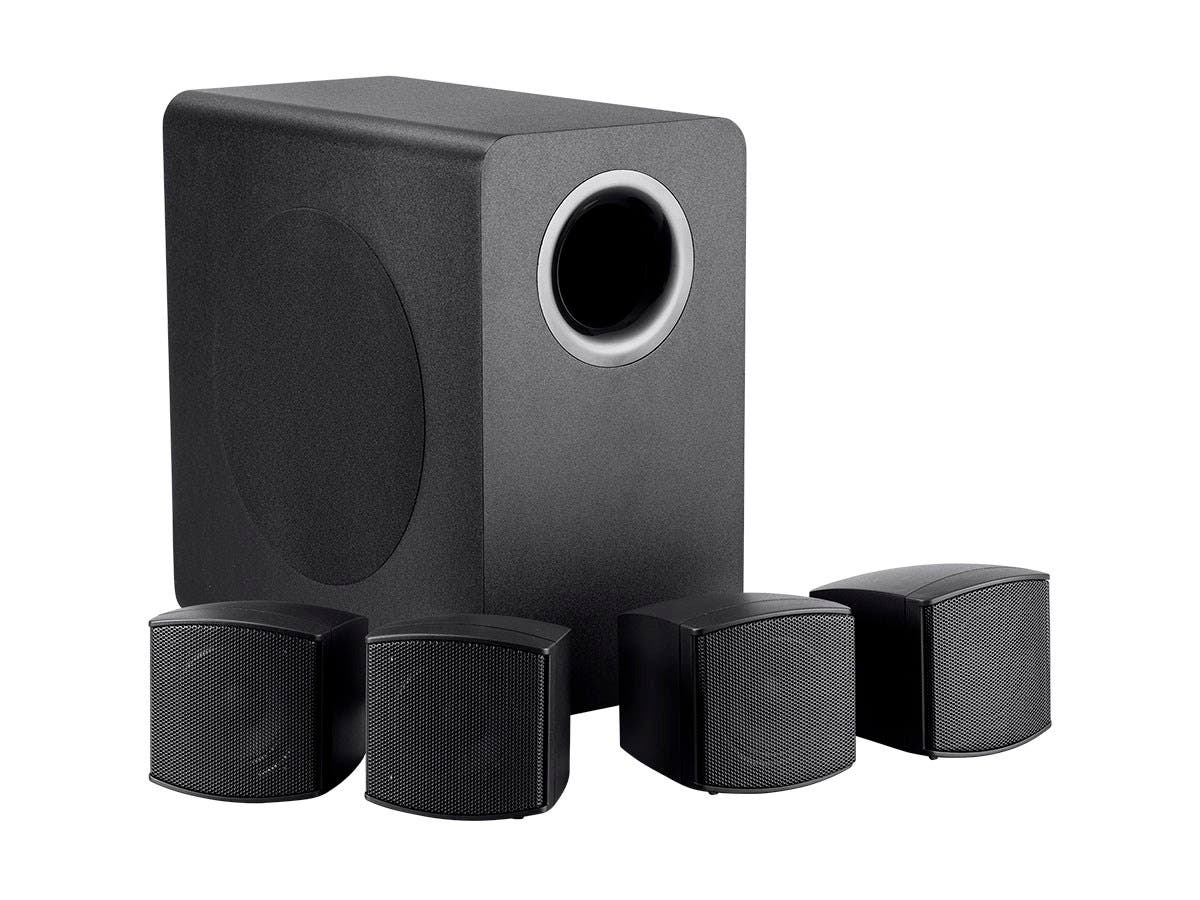 BGM 4.1 Indoor Outdoor 6.5-Inch sub with 4 x 2.5-Inch Satellites, 70V and 8-ohm incl Mounting Hardware (No Logo)