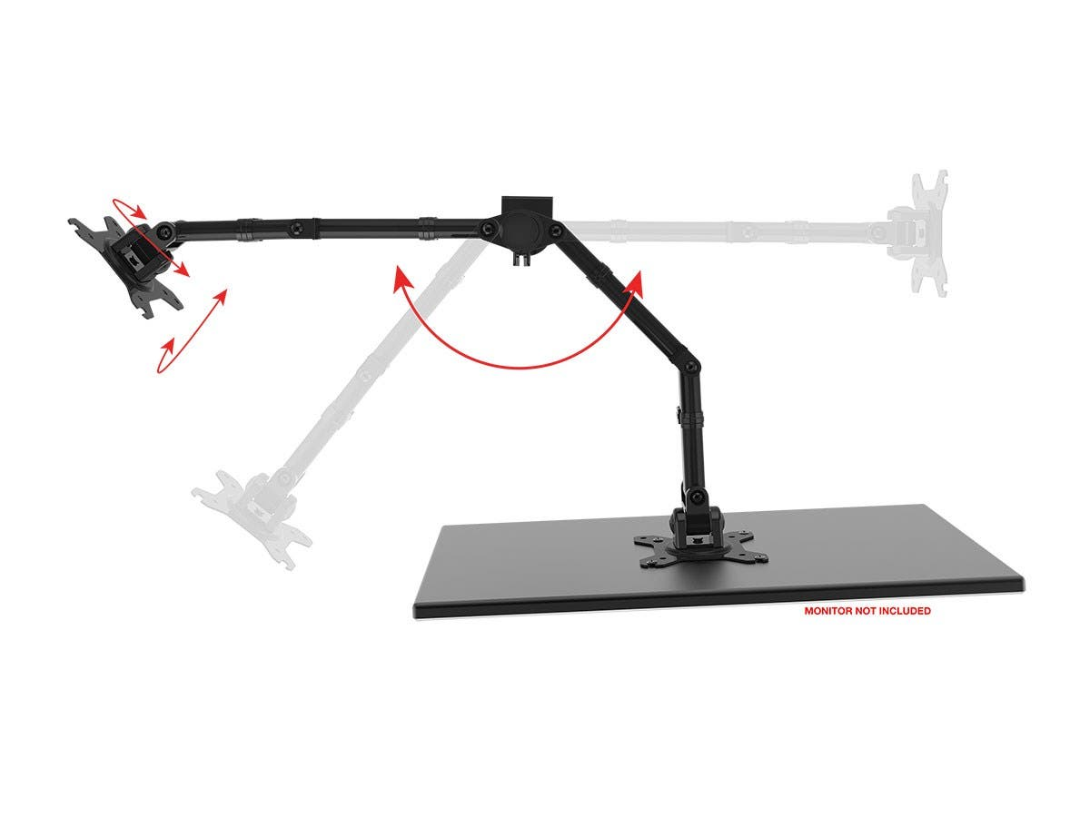 Small Articulating Arm : Monoprice essential dual monitor articulating arm desk