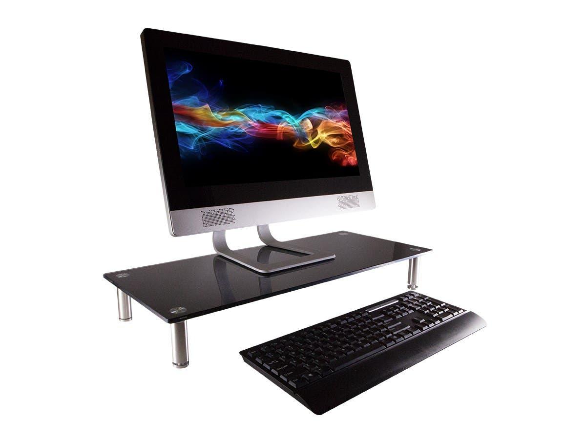 Workstream By Mono Um Multia Desktop Monitor Stand Black Glass Small Image