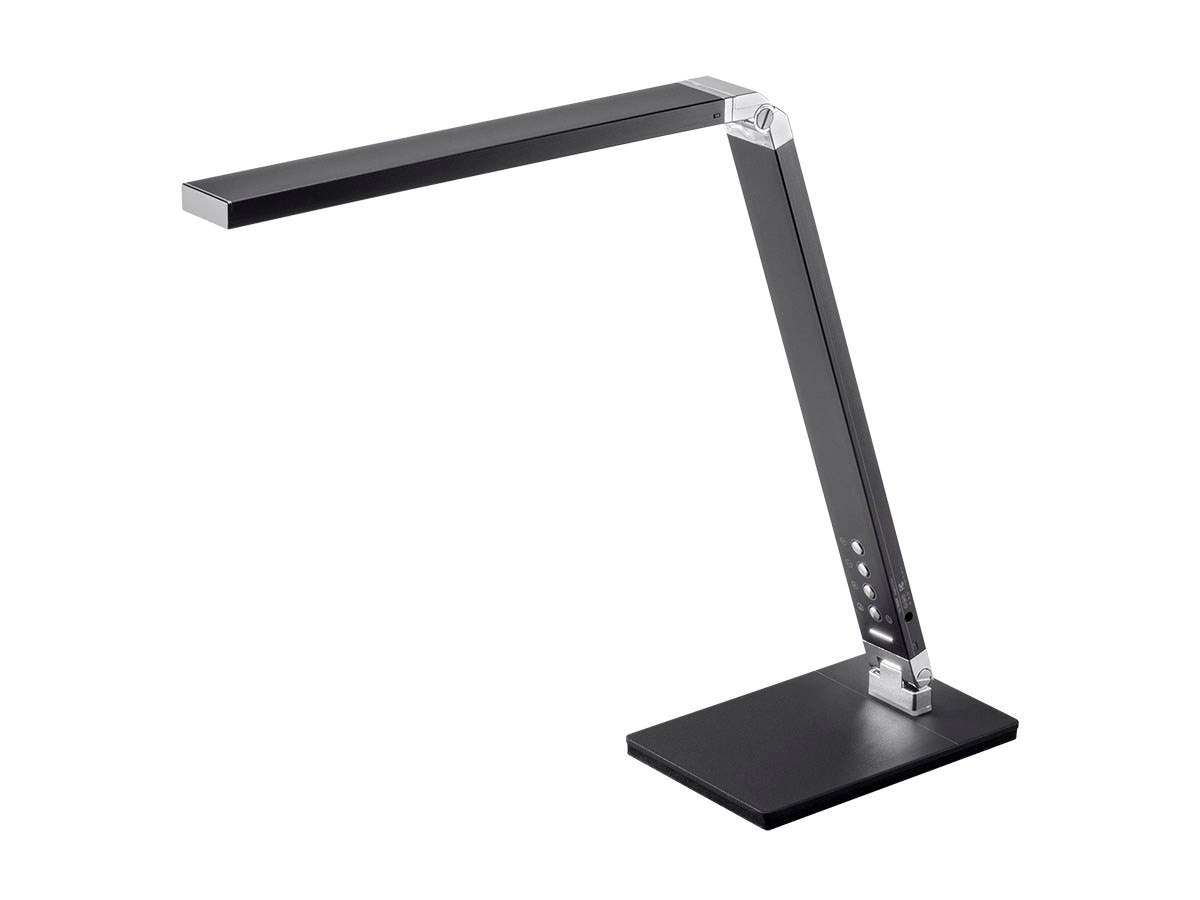 Workstream by Monoprice LED Aluminum Desk Lamp, Black-Large-Image-1