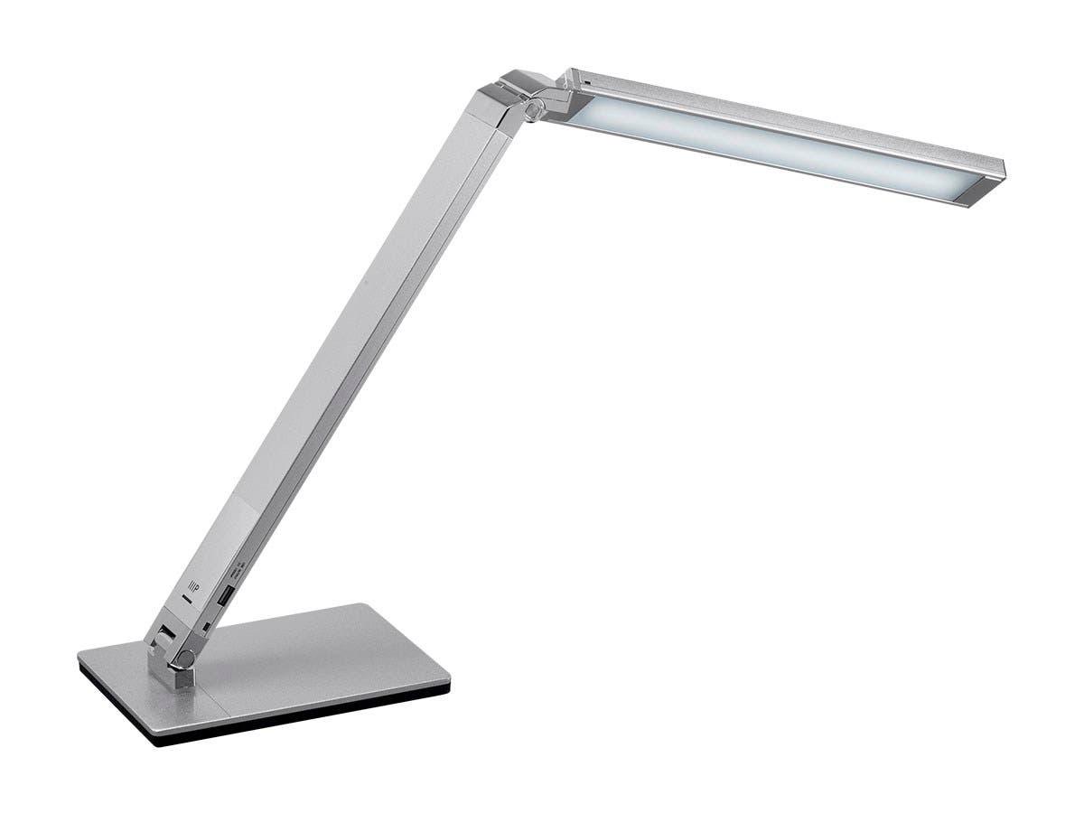Workstream By Mono Led Aluminum Desk Lamp Silver Small Image 2