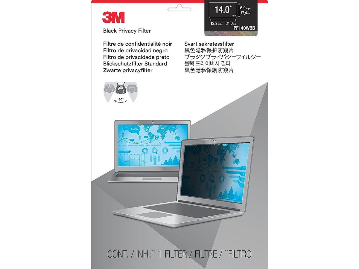 "3M 14.0"" Widescreen Laptop Privacy Filter - For 14""Notebook, Monitor"