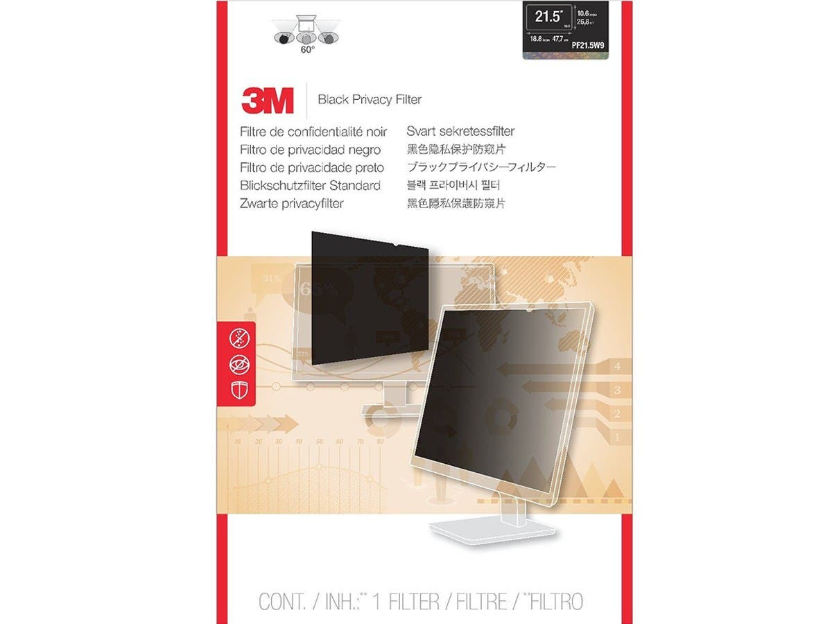 "3M PF21.5W9 Privacy Filter for Widescreen Desktop LCD Monitor 21.5"" - For 21.5""Monitor"