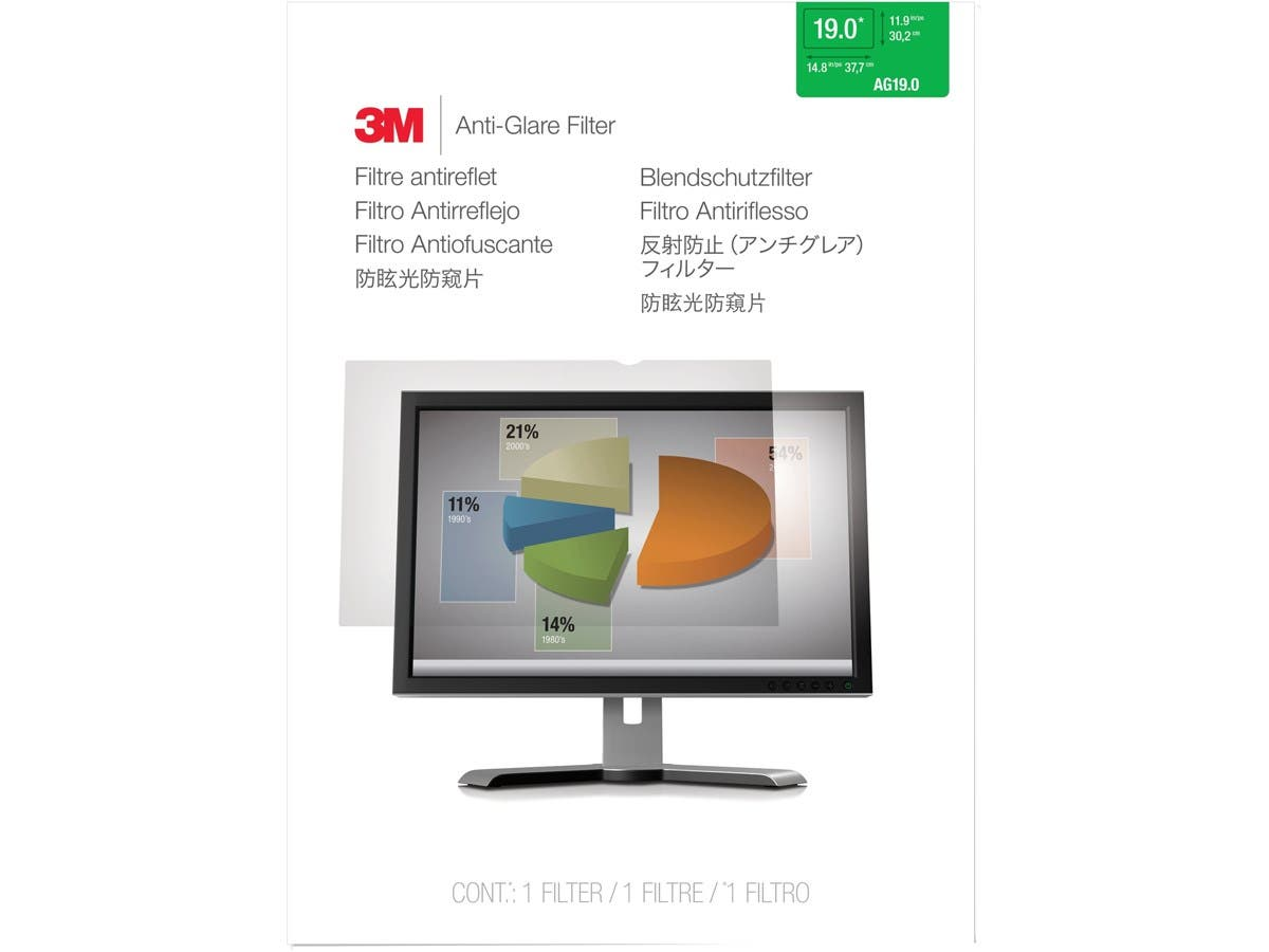 "3M AG19.0 Anti-Glare Filter for Standard Desktop LCD Monitor 19"" - For 19""Monitor-Large-Image-1"