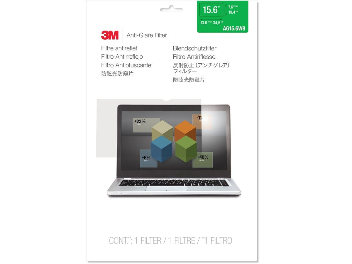 "3M AG15.6W9 Anti-Glare Filter for Widescreen Laptop 15.6"" - For 15.6""Notebook-Large-Image-1"
