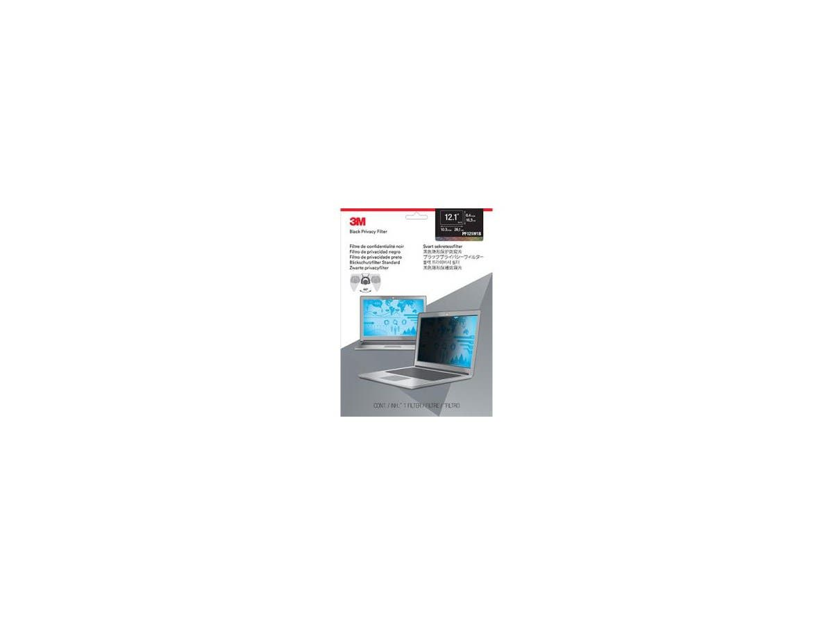 """3M Privacy Screen Filter Black - For 12.1""""Notebook"""