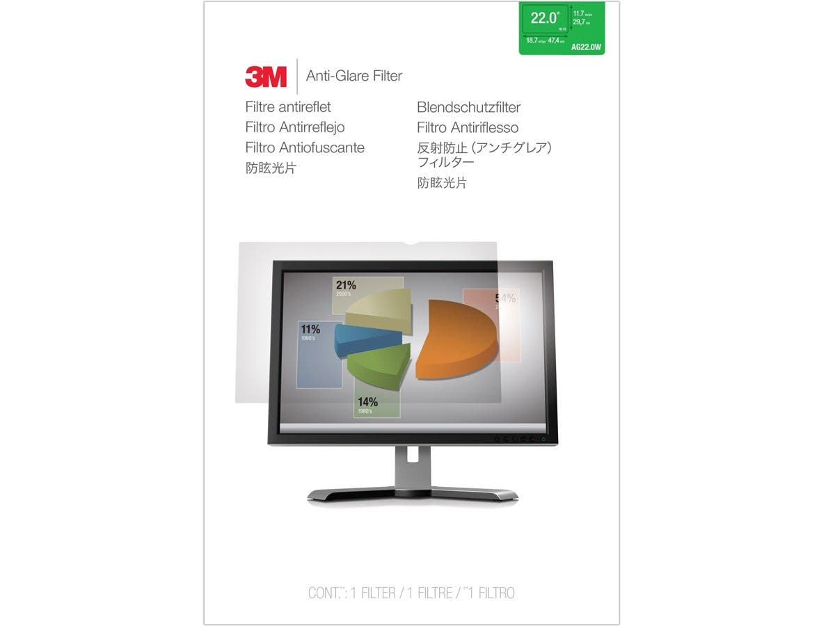 "3M AG 22.0W Anti-Glare Filter - For 22""Monitor"