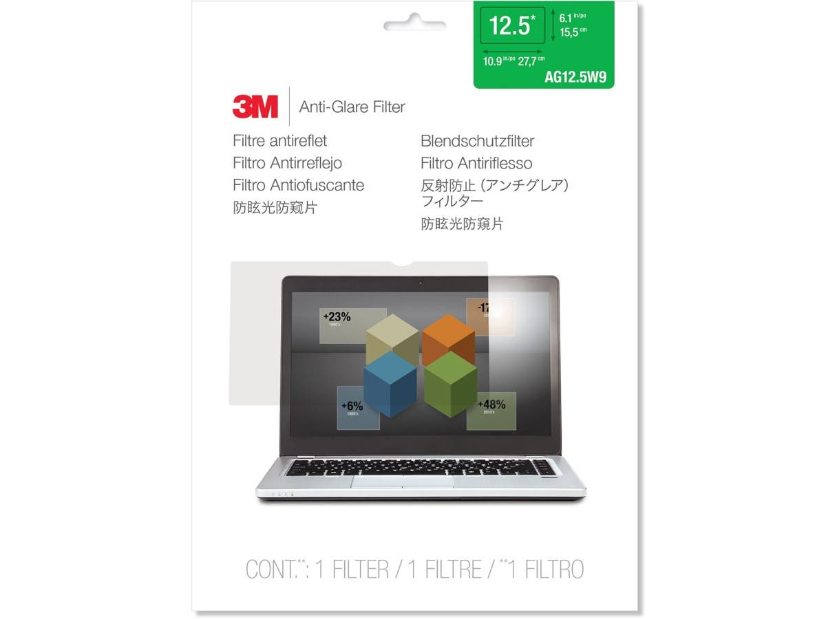 "3M AG12.5W9 Anti-Glare Filter for Widescreen Laptop 12.5"" - For 12.5""Notebook"