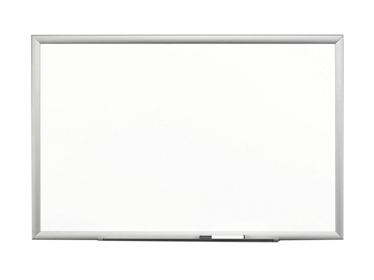 3M Premium Porcelain Dry Erase Board, 72 x 48, White, Aluminum Frame-Large-Image-1